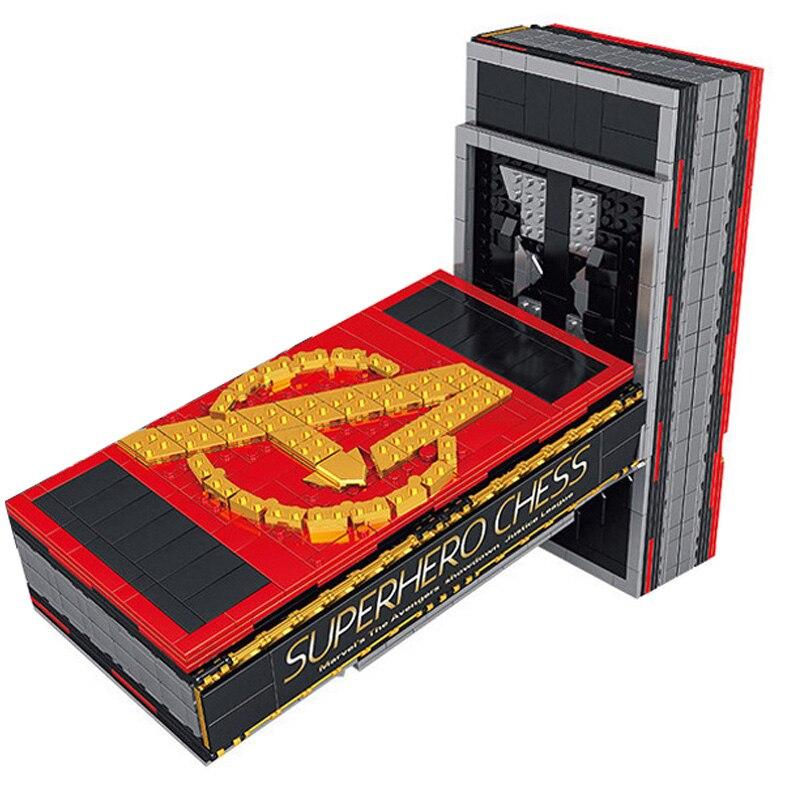 1507 Pcs Bricks Superhero Book Set Iron Man Batman Thor Figures Super Heroes Model Building Blocks Boy Birthday Gift Kids Toys